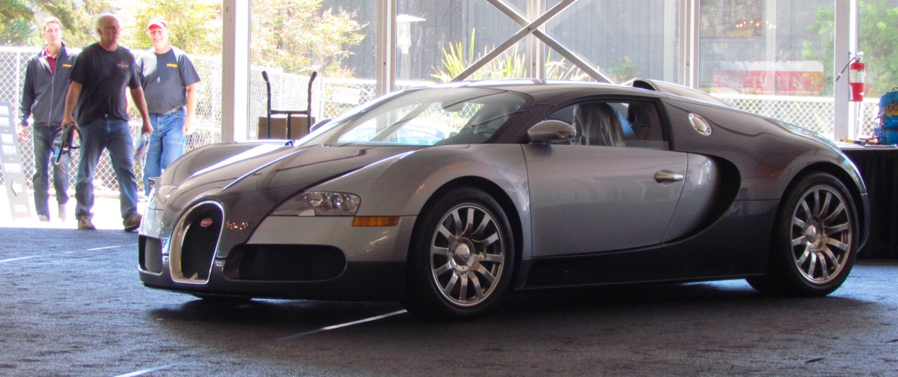 A Bugatti Veyron is among the amazing cars on the docket at Mecum's auction in Monterey | Larry Edsall photos