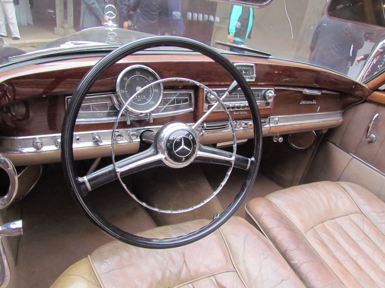 Interior shows patina of the car's age