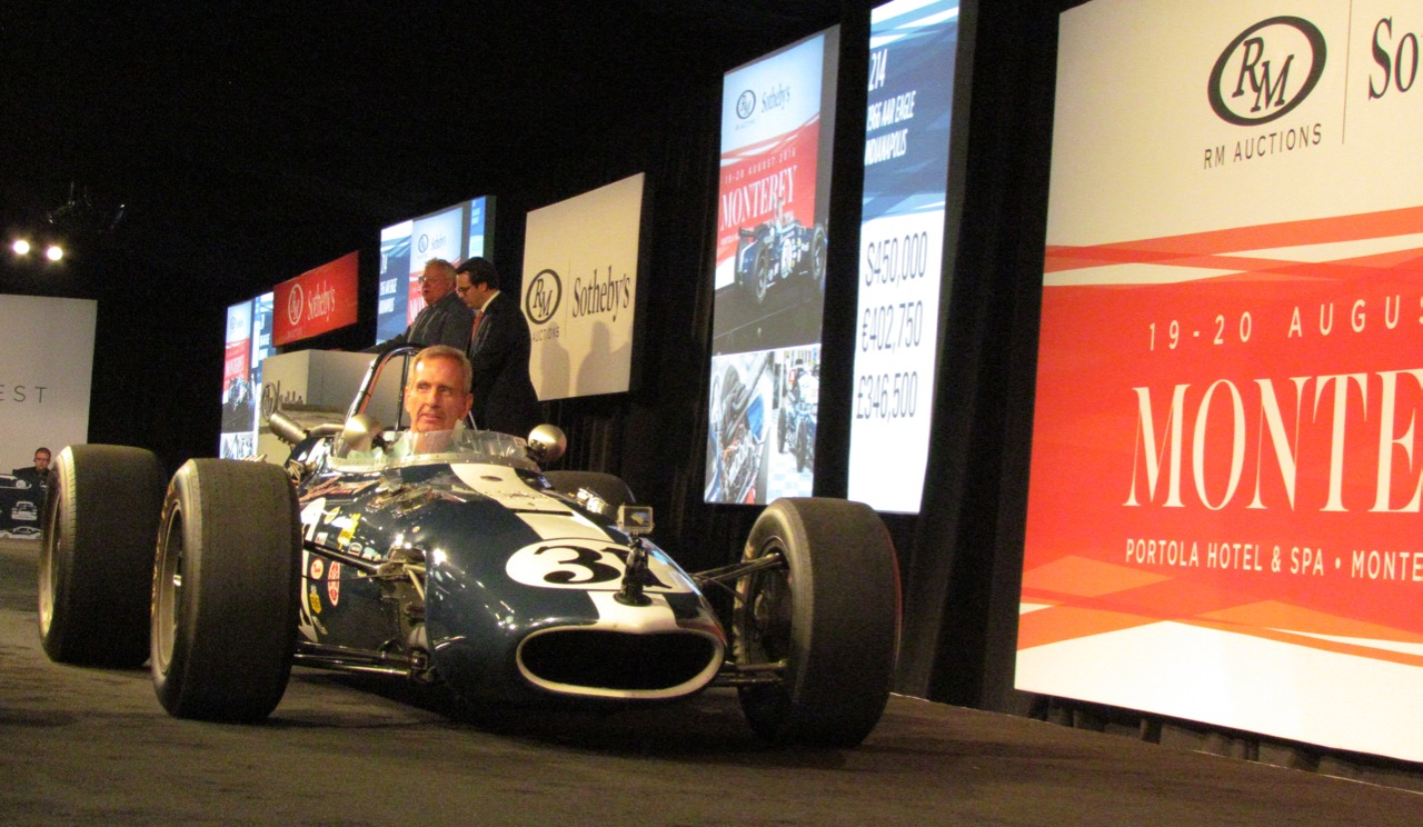 Dan Gurney's first Indy Eagle on the block Saturday at RM Sotheby's