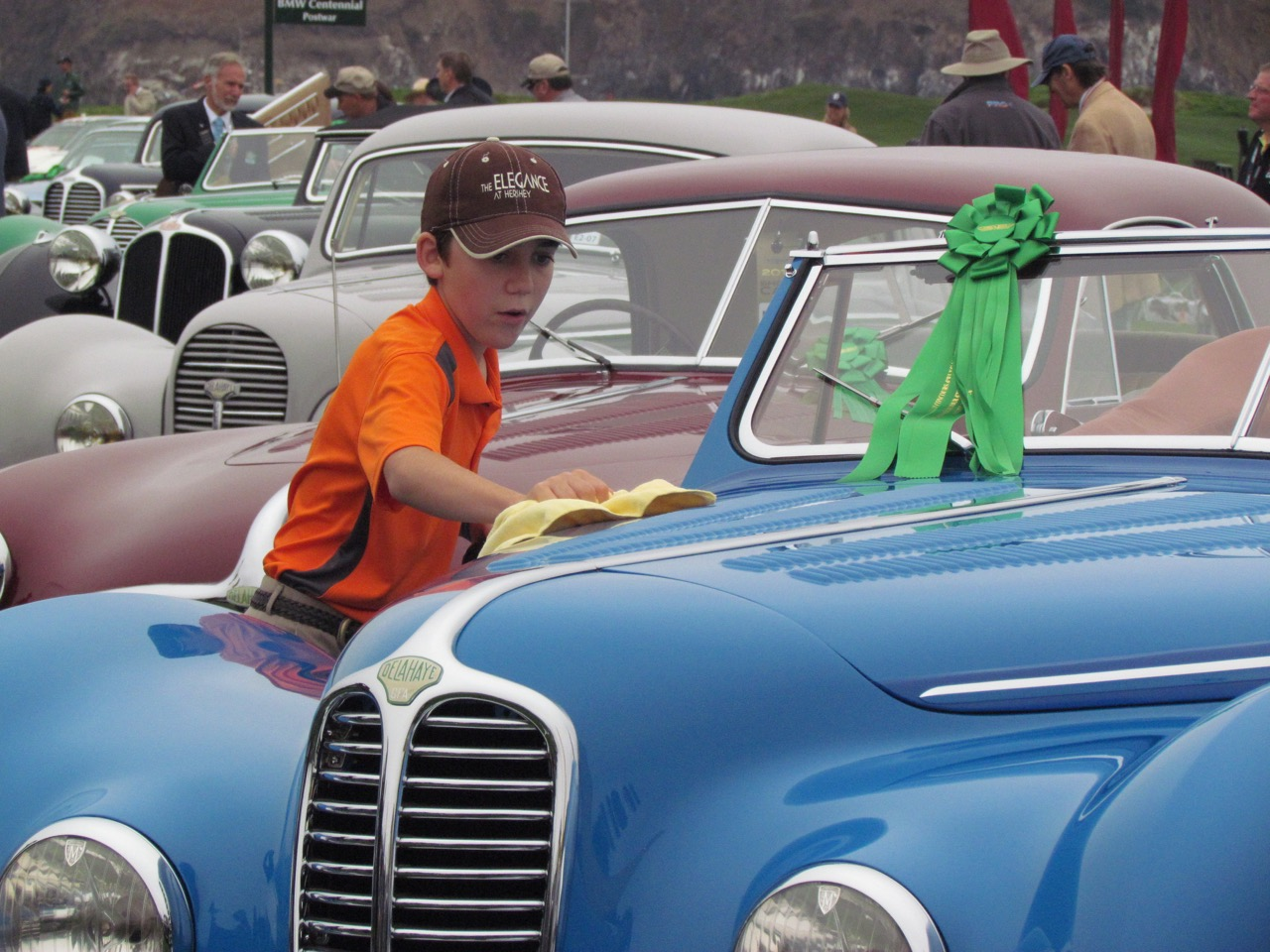 11-year-old Ezra Gould hopes grandfather's 1947 Delahaye will be his someday