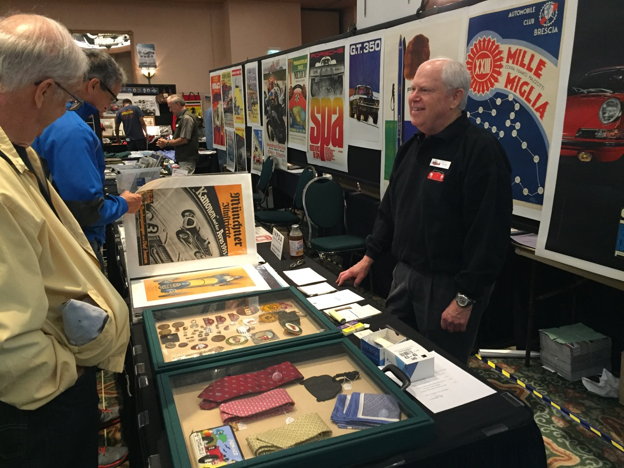 Tony Singer greets customers at Automobilia show and sale | Larry Crane photos