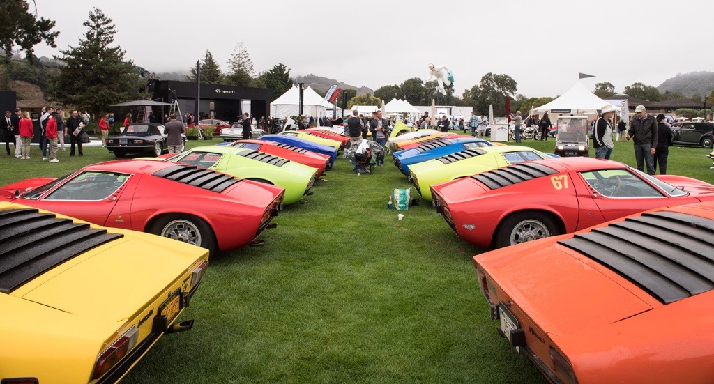 50 years of the Lamborghini Miura celebrated at The Quail