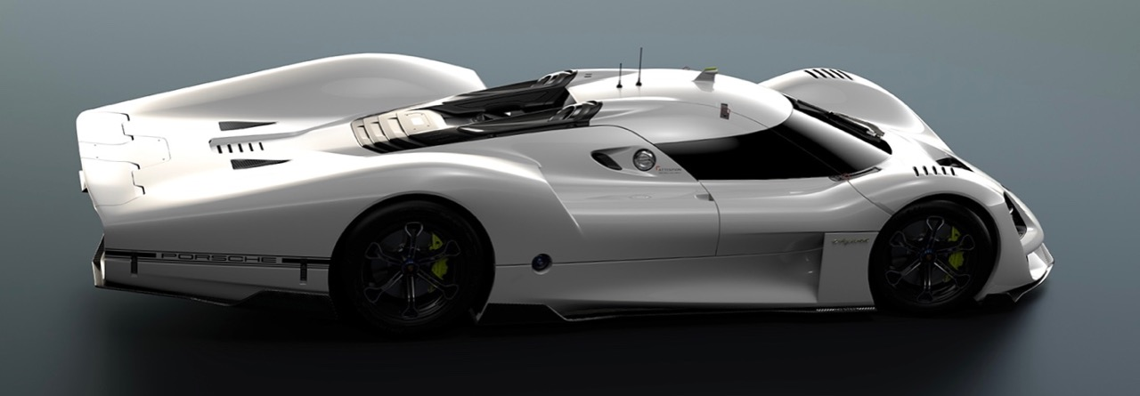 Porsche 908/04 has long tail inspired by famous Le Mans racers of the past