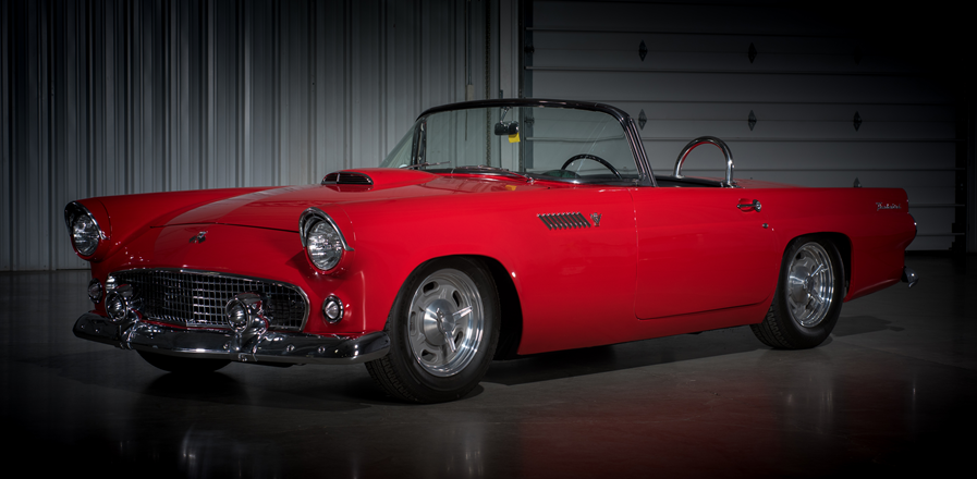 Countdown To Barrett Jackson Las Vegas 2016 1955 Ford Thunderbird Custom Convertible