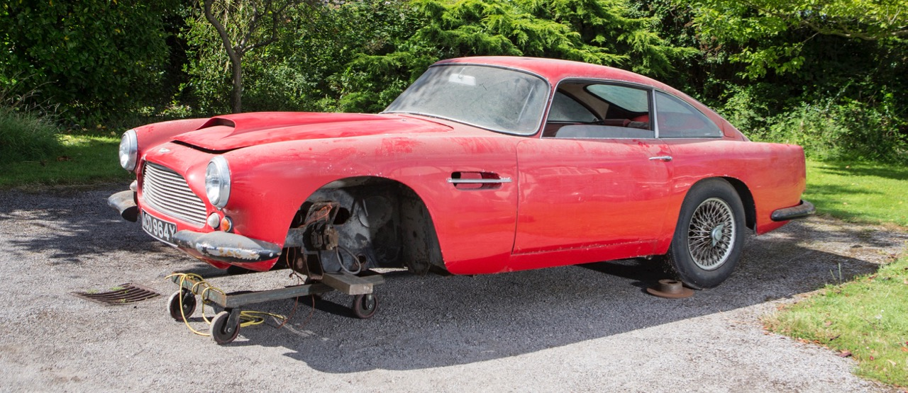 Restoration project starts with $270,887 purchase price for remains of 1959 Aston Martin | Bonhams photos