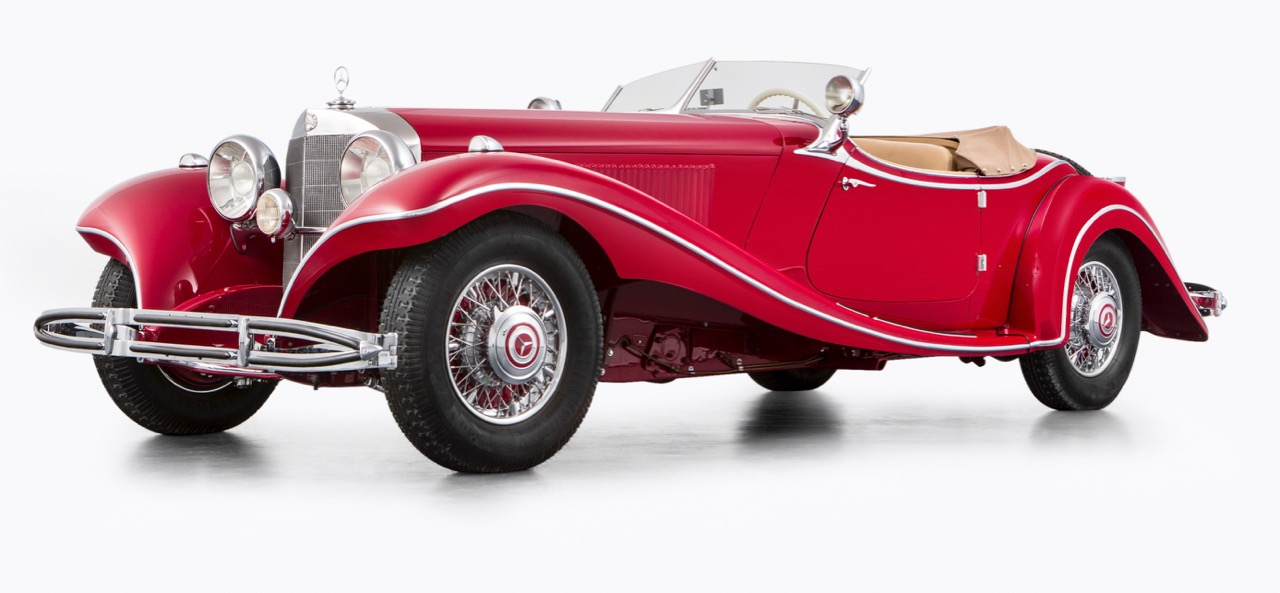 Heirs reunited with 1935 Mercedes-Benz 500K Special Roadster sell it at Bonhams' auction | Bonhams photos