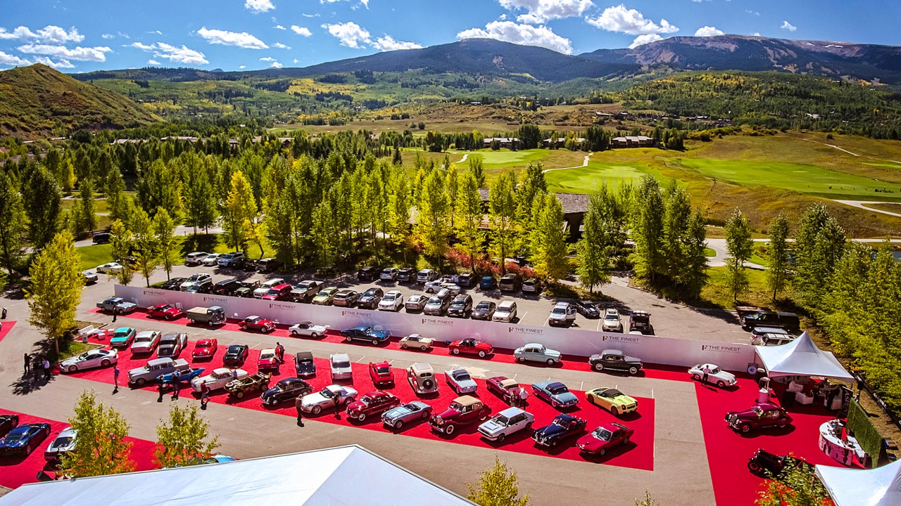 Balloon festival vantage of The Finest's Aspen/Snowmass auction venue | The Finest auction photos