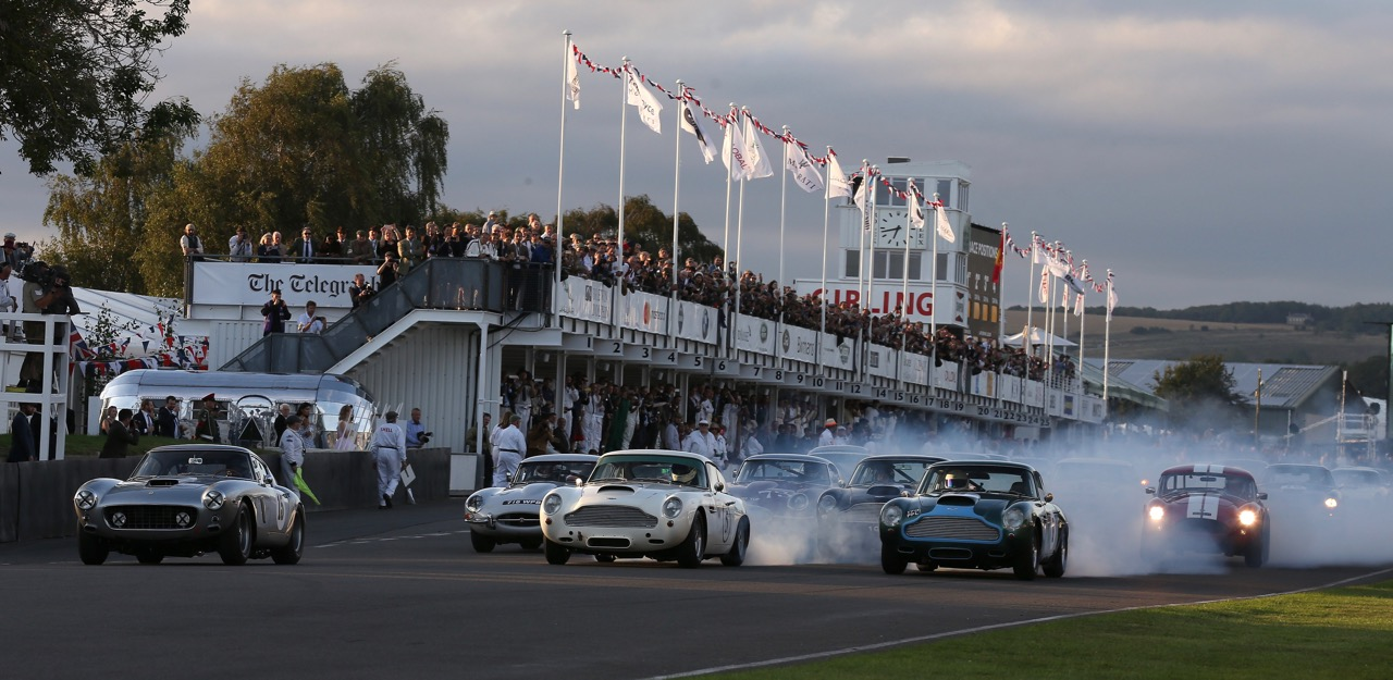 The start of the new Kinrara Trophy race at the Goodwood Revival | Rolex photos