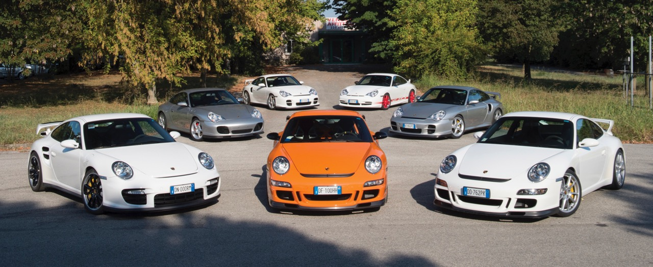 A few of the some 60 Porsches on the docket