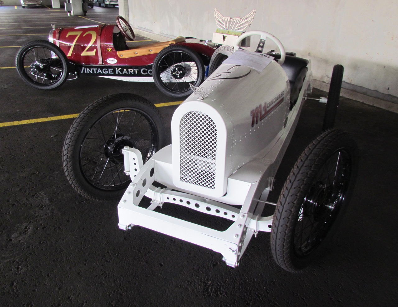 A pair of mini racers at the Detroit auction