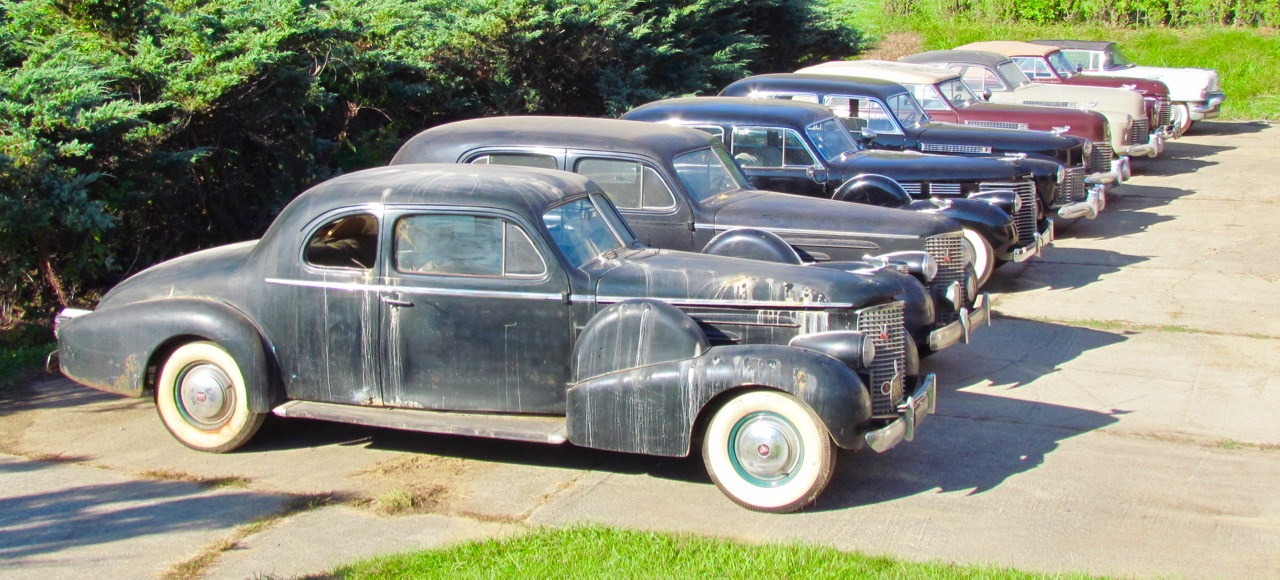 Water spots the 1939 Cadillac Series 90 V16 5-passenger coupe that is part of Doug Houston's collection | Larry Edsall photos