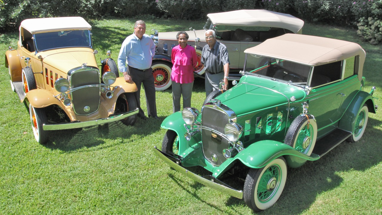 Concours co-founder Bill Wallet previews the Colliers' trio of 1932 Chevrolets