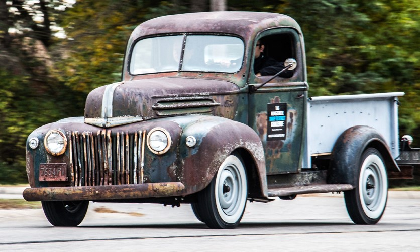 Last year's Hershey project, a 1946 Ford pickup, got back on the road