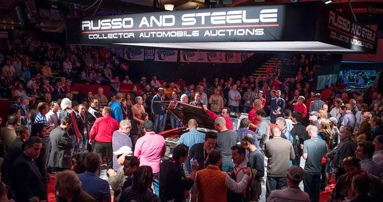 People crowd in during Russo and Steele's high-energy sale