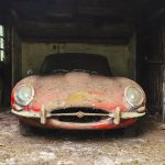 The Jaguar XK-E coupe sits in the barn where it has been parked for more-than 40 years | H&H Classics photos