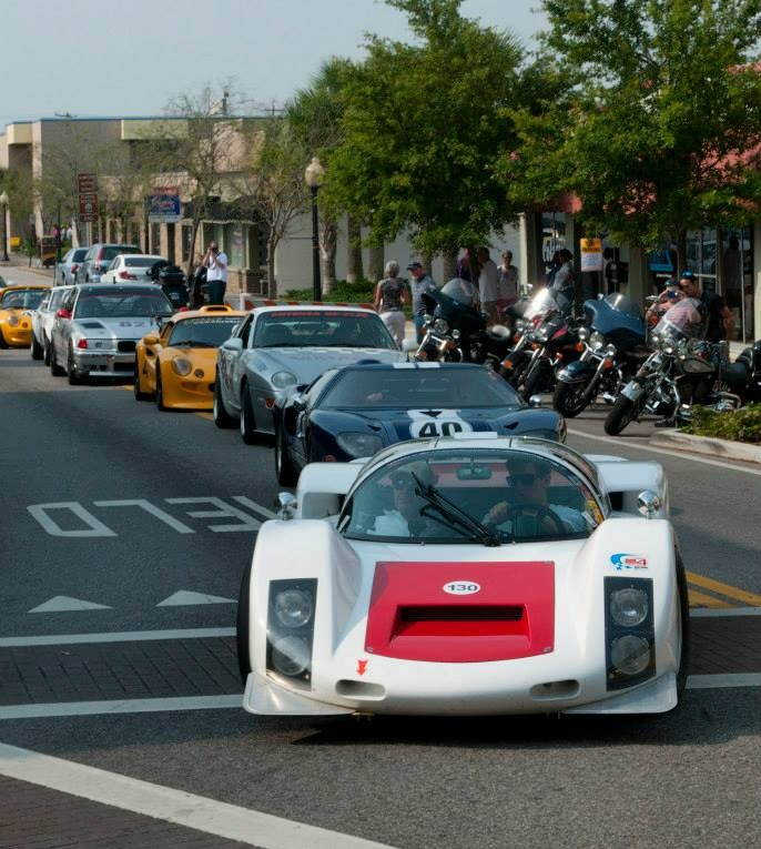 Parade lap through downtown Sebring