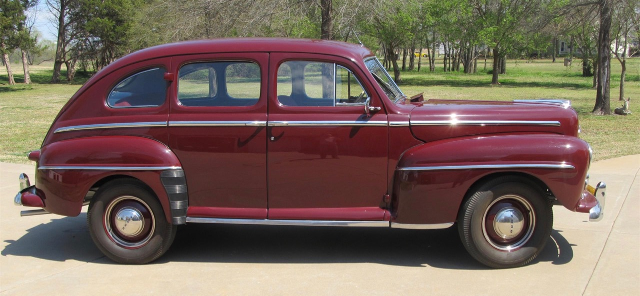 1947 Ford Super Deluxe was still based on pre-war design and engineering