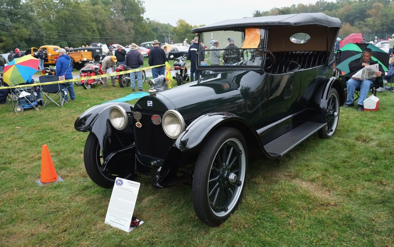 Wet weather is not deterrent at Hershey, where this 1919 Buick was on display | Andy Reid photos