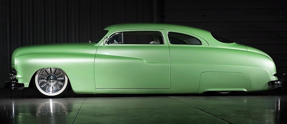 The custom 1950 Mercury coupe named Wasabe