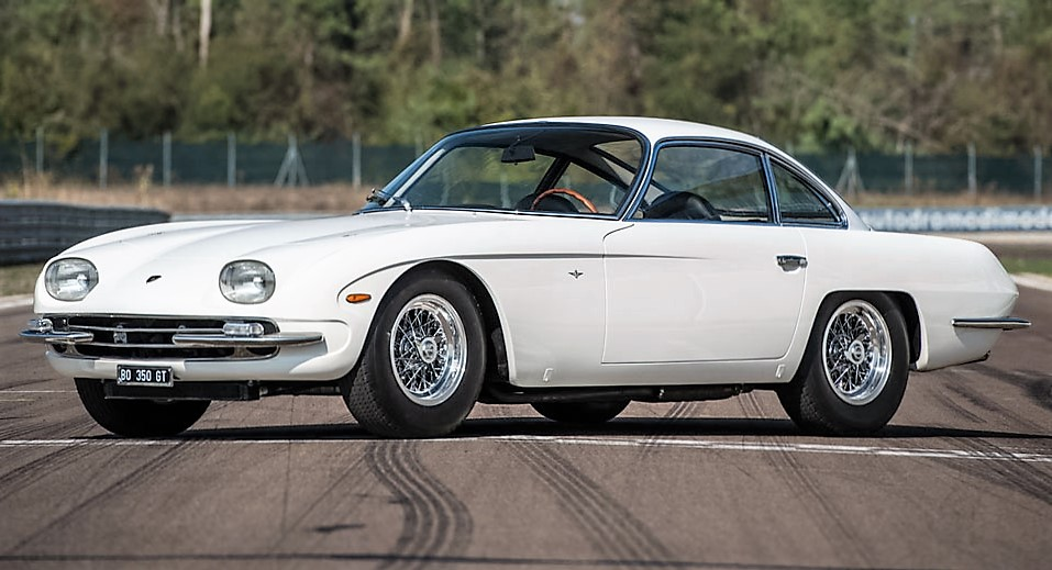 The freshly restored Lamborghini 350 GT on the track | Automobili Lamborghini