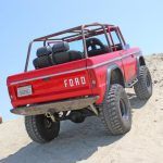 Ford Bronco in action, climbing up hill
