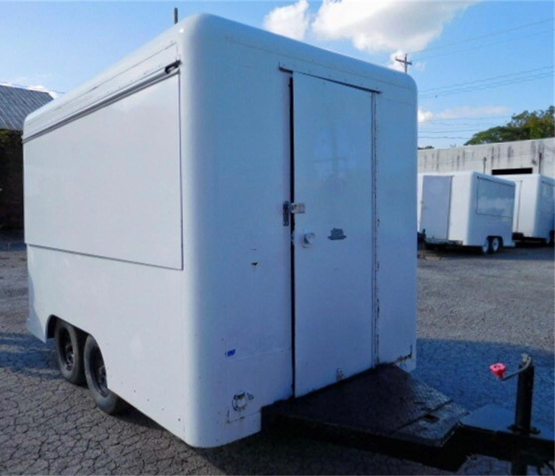 The trailer closes for towing or to secure what's inside
