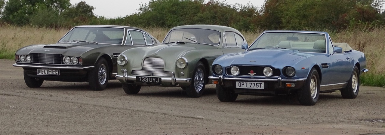 Three of the half-dozen Aston Martins to be offered at H&H's next auction | H&H photos