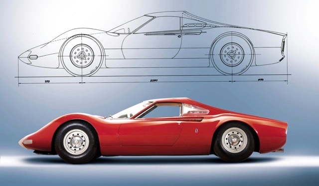 Concept car and design drawing
