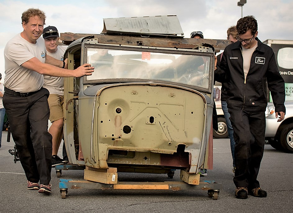 The team found a viable Model A body at the swap meet