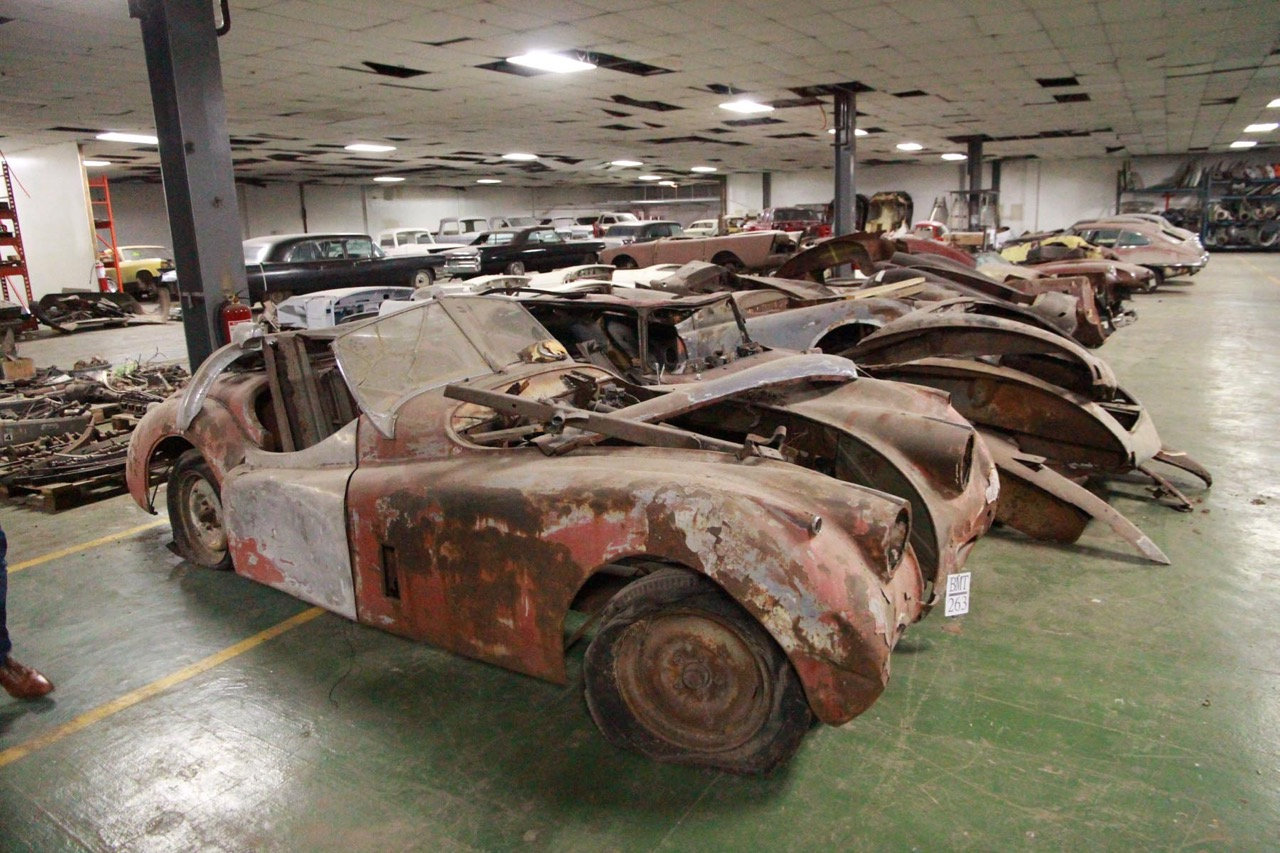 Some of 37 Jaguars purchased in Texas and taken to the Philippines for restoration work