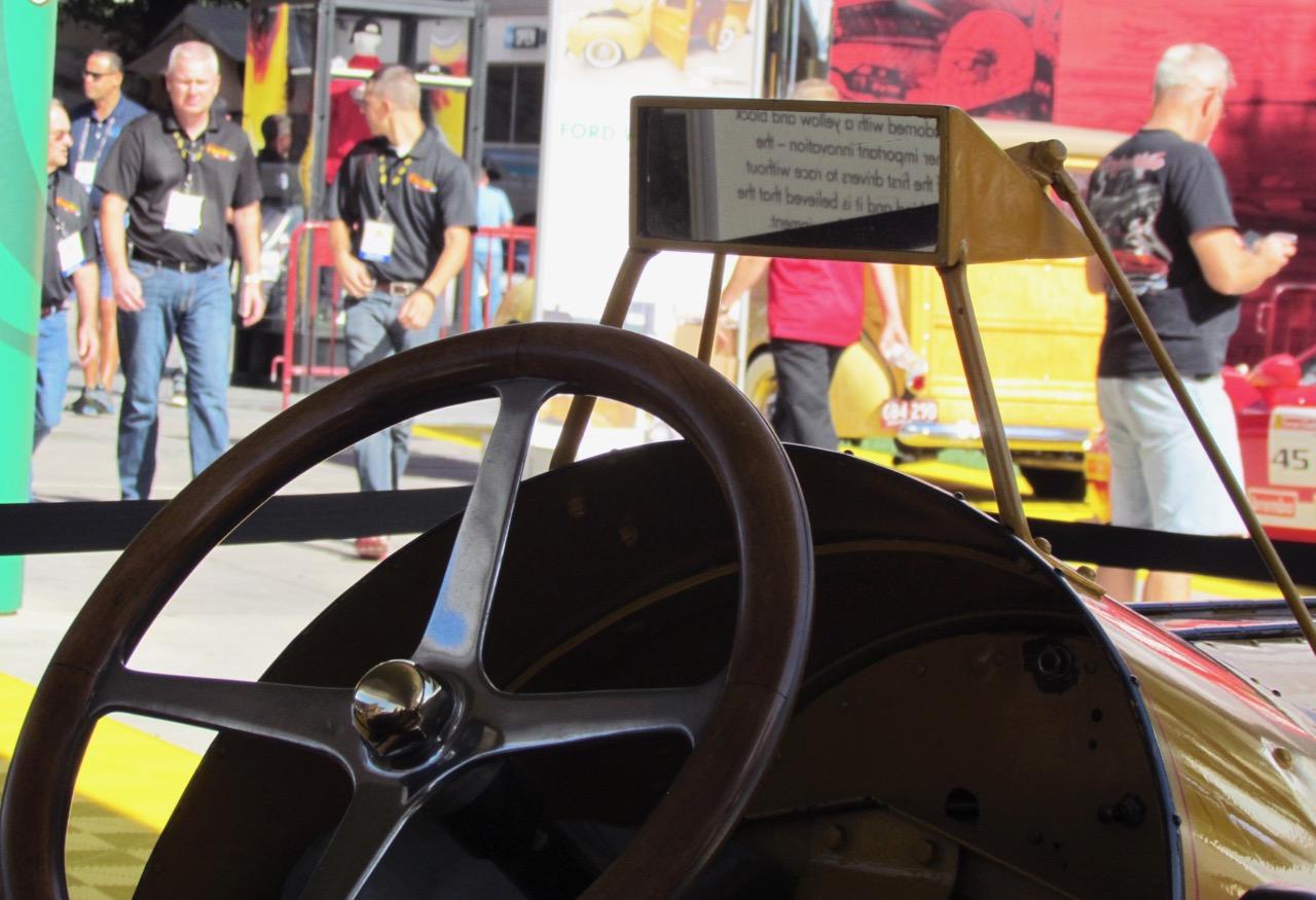 The original automotive rear-view mirror
