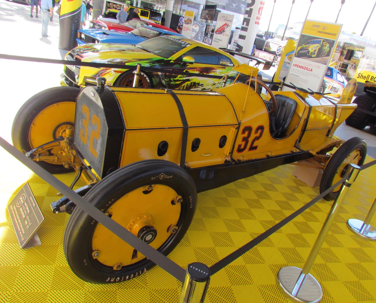 Ray Harroun customized the 1911 Marmon Wasp with a rear-view mirror | Larry Edsall photos