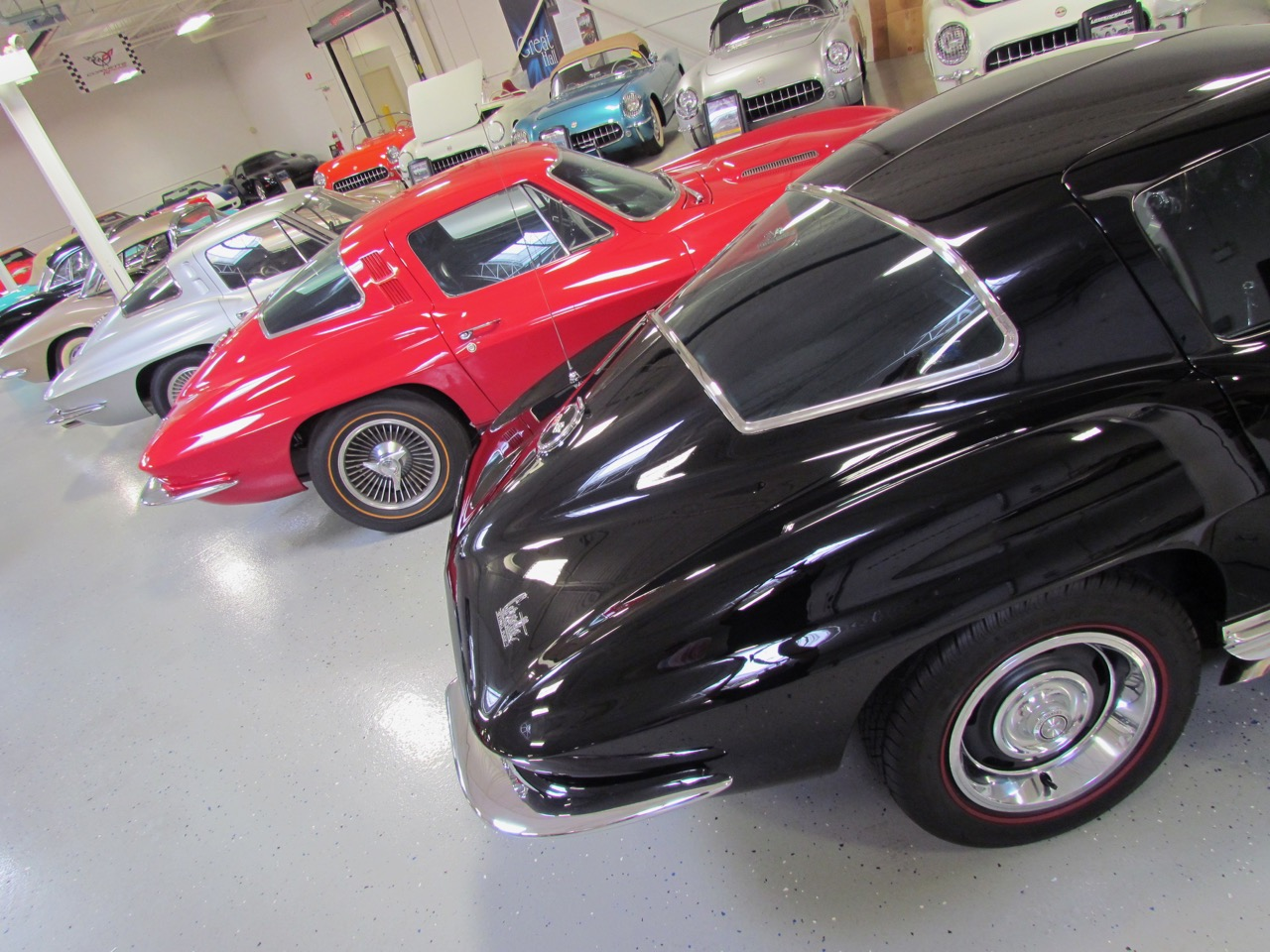 The collection includes many very special Corvettes