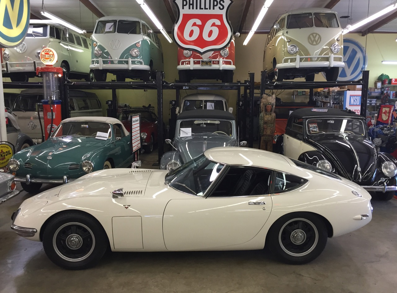 A Toyota 2000 GT is part of the collection