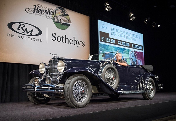 1930 Duesenberg on the block and on its way to a $2.09 million sales price | RM Sotheby's photos by Darin Schnabel