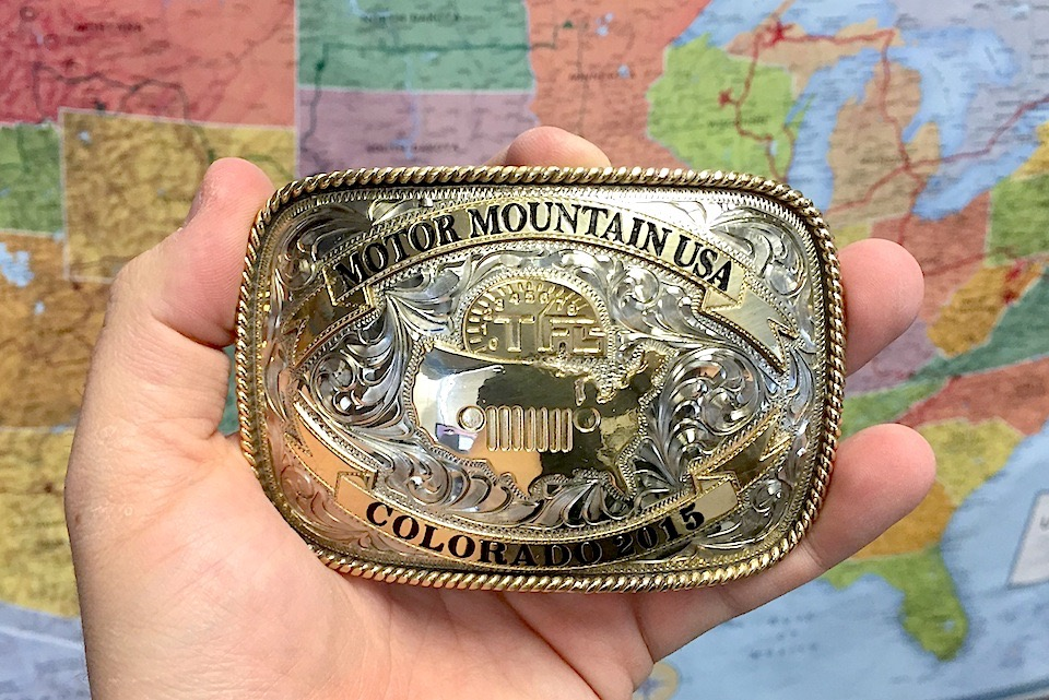 A unique belt buckle was left to be discovered in every state