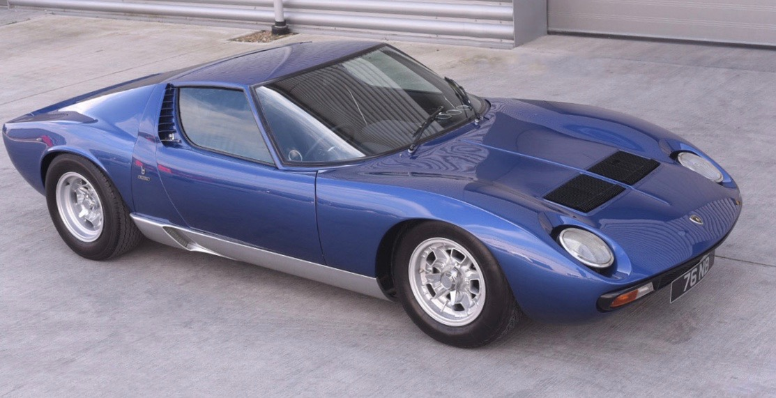 Lamborghini Miura formerly owned by Rod Stewart tops $1 million at Coys auction | Coys photo