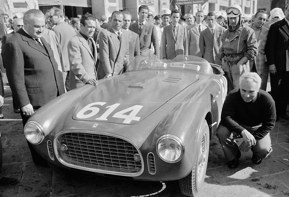 The Vignale Spider at the 1952 Mille Miglia | Marcel Massini archive photo
