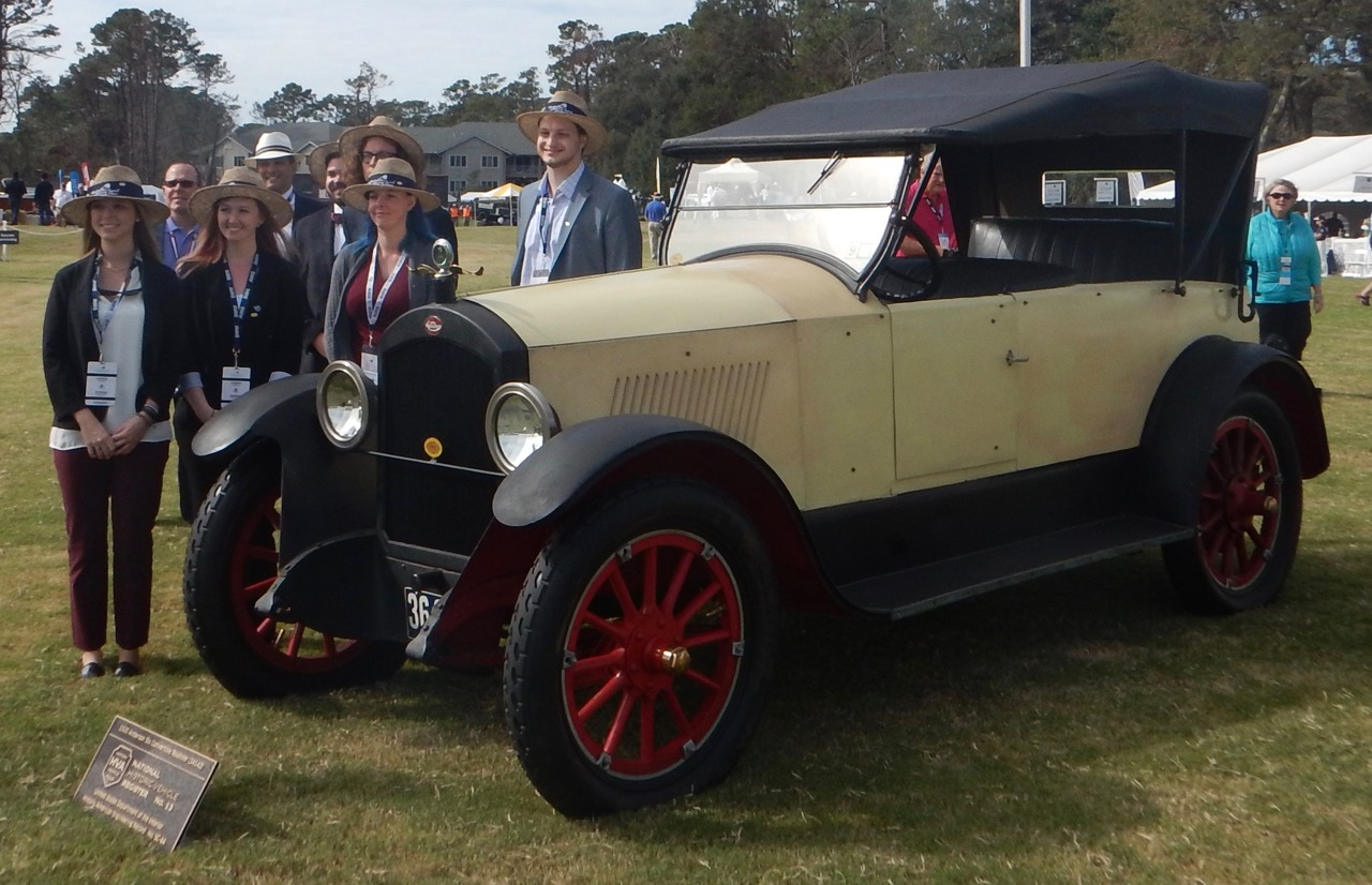 Students with the car at recent Hilton Head Island Motoring Festival