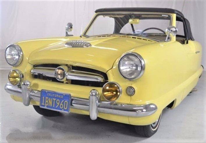 The Nash Metropolitan is a Series 1 convertible in preserved condition