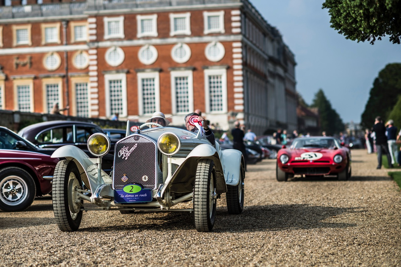 Alfa Romeo 6C Flying Star took best of show honors at Hampton Court in 2014