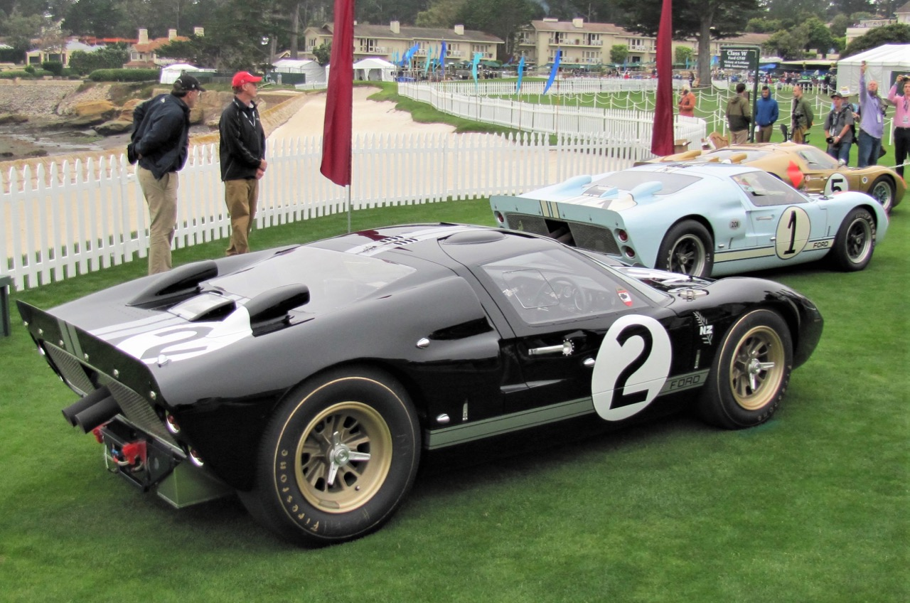 Le Mans-winning Ford GT40 (No. 2) on display at Pebble Beach | Bob Golfen photo