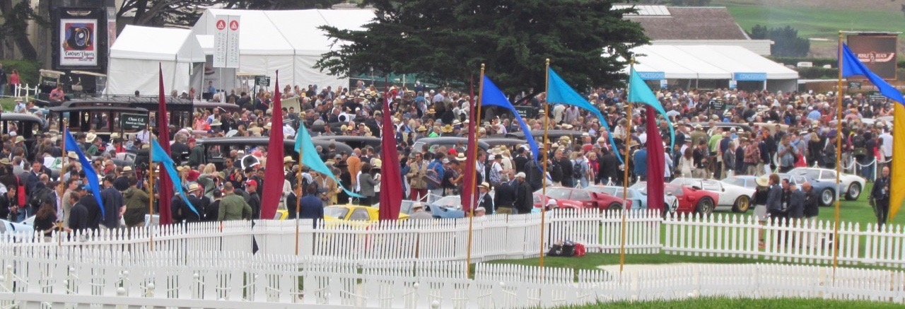 Of the more than 200 cars at Pebble Beach in August, four were entered as being solely owned by a woman  Larry Edsall photo