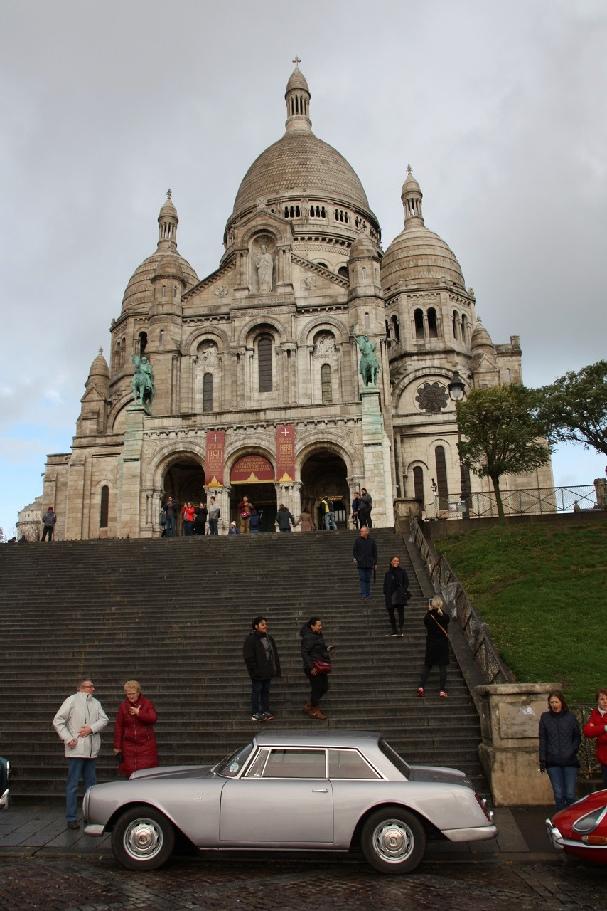 Posing for a photo in front of Sacre-Coeur