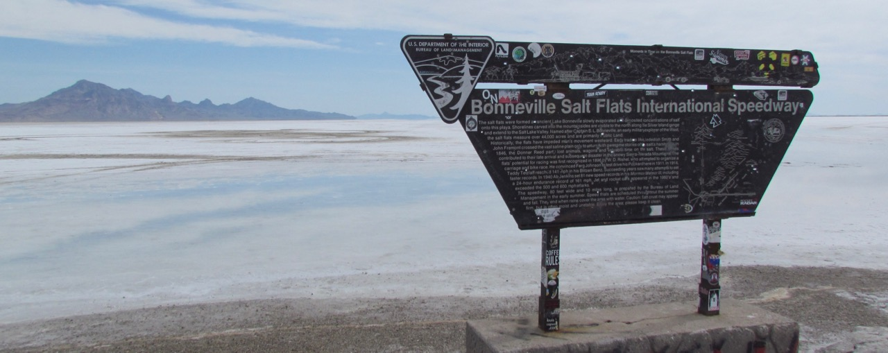 When we visited the Bonneville Salt Flats 2014, surface wasn't strong enough to support speed record runs | Larry Edsall photo