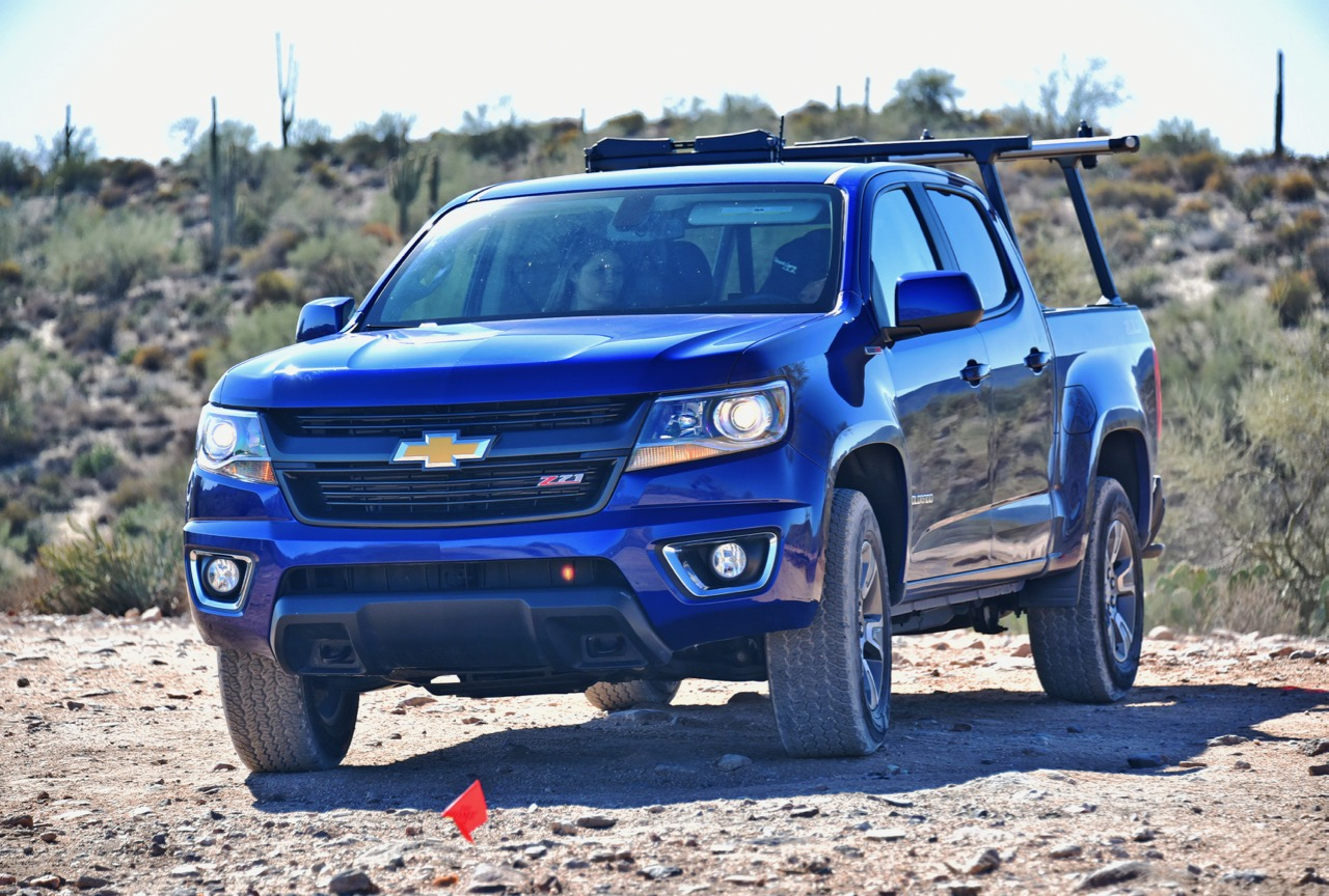 We take the diesel-driven Colorado on the off-road course