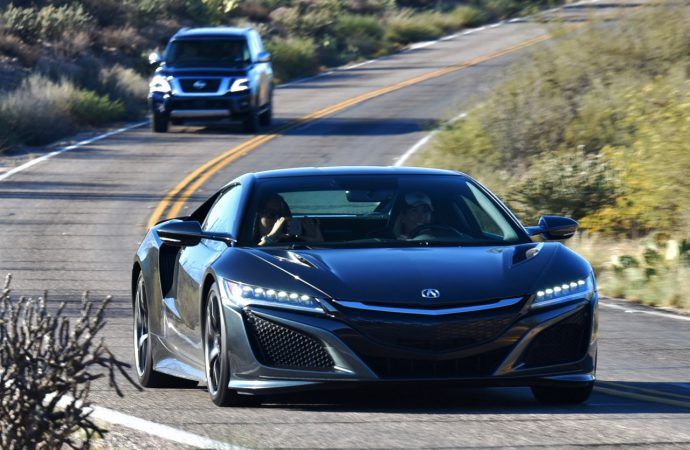 Driven (briefly): Larry drives NSX, duo of diesels