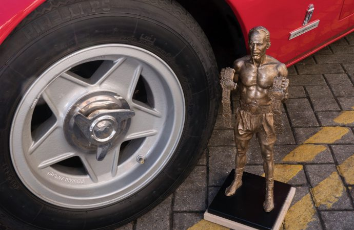 'Ammer' time for a famed boxer's Ferrari