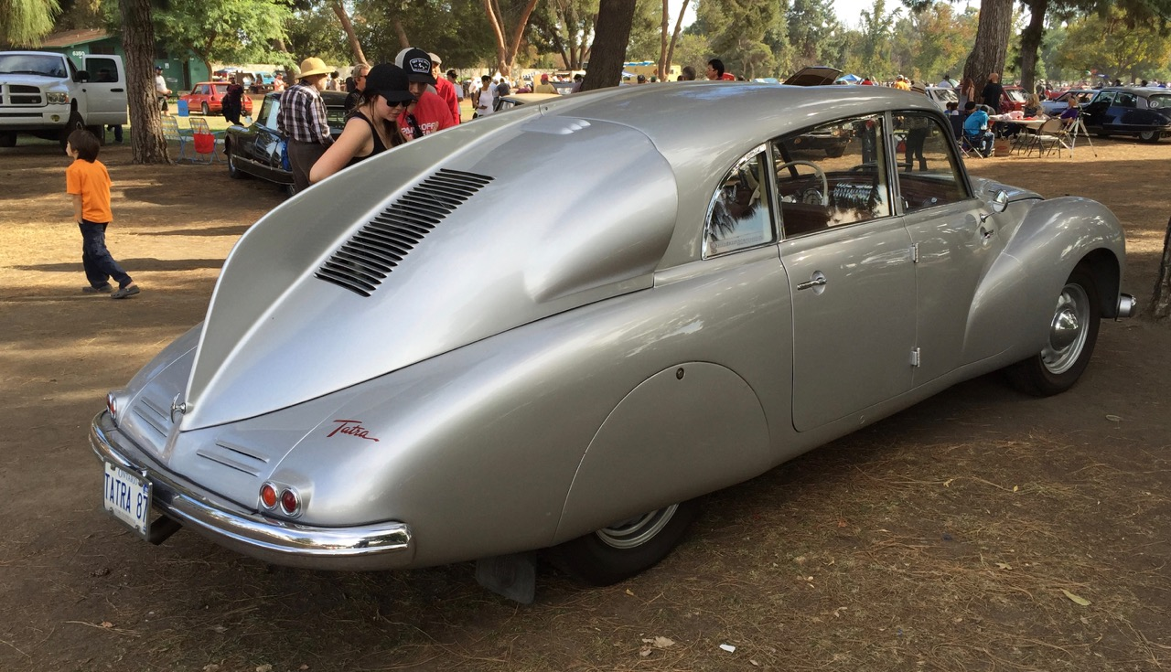 Tatra T87 is from Czechoslovakia, but was welcome at the show