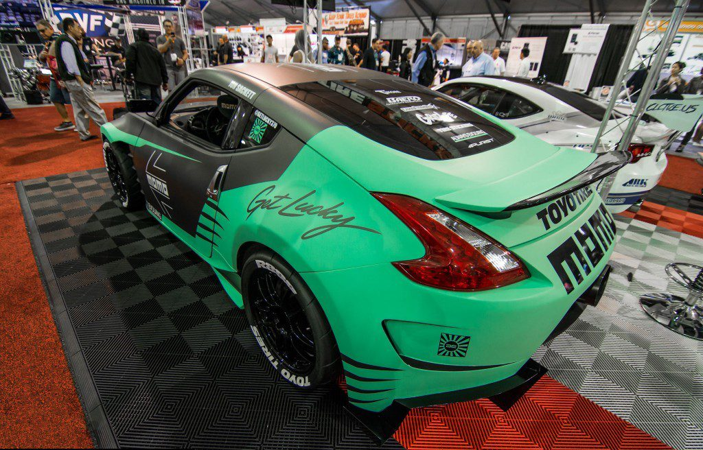 The car is named Get Lucky 370Z